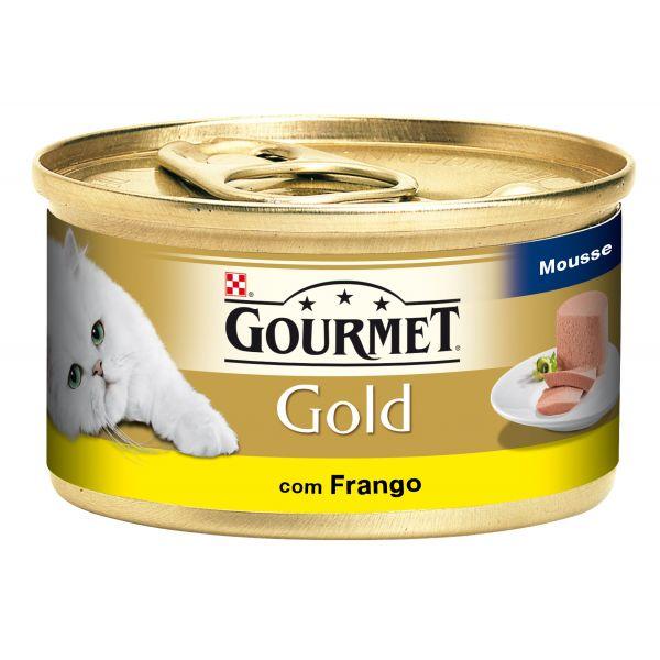 Ração Húmida Purina Gourmet Gold Mousse Chicken Cat 85g