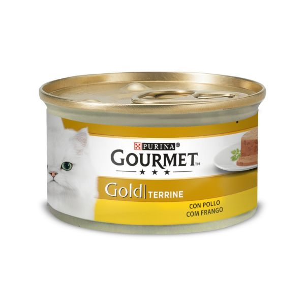 Ração Húmida Purina Gourmet Gold Terrine Chicken Cat 85g