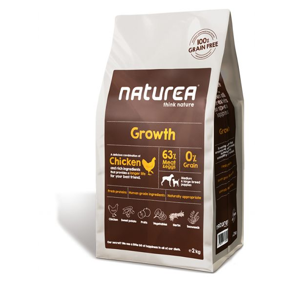 Ração Seca Naturea Growth Chicken 12Kg