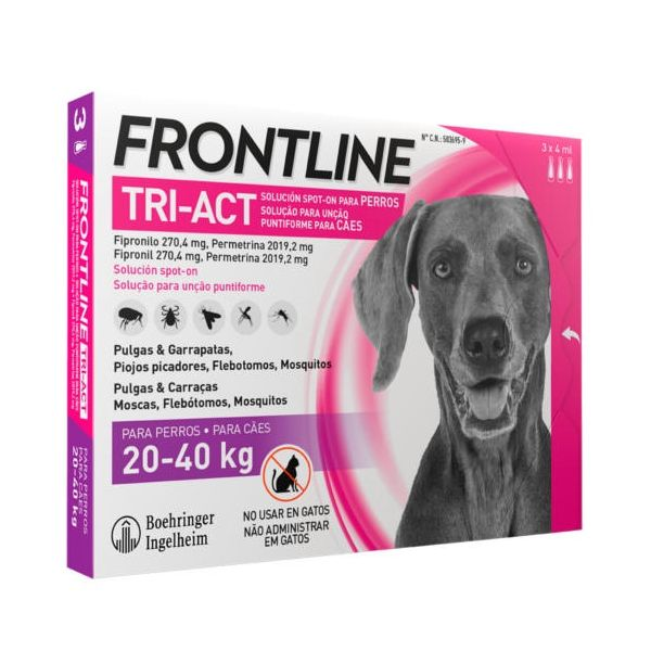 Frontline Tri-Act Cão 20-40Kg 3 Pipetas