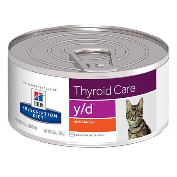 Ração Húmida Hill's Prescription Diet y/d Thyroid Care Cat 156g
