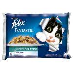 Ração Húmida Purina Felix Fantastic Banquete do Mar Cat 4x 100g