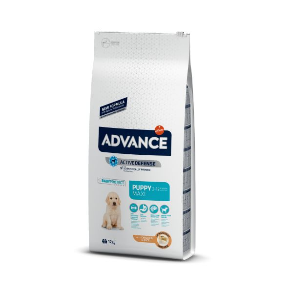 Ração Seca Advance Puppy Maxi Protect Chicken & Rice 12Kg