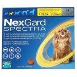 Nexgard Spectra Antiparasitário Cão 3,5-7,5Kg 3 Comprimidos