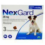 Nexgard Antiparasitário Cão 4-10Kg 3 Comprimidos