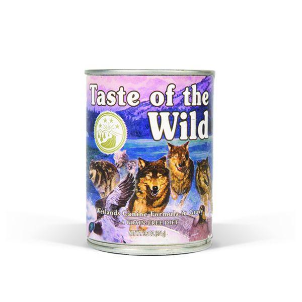 Ração Húmida Taste of the Wild Wetlands Fowl in Gravy Wet Dog 390g