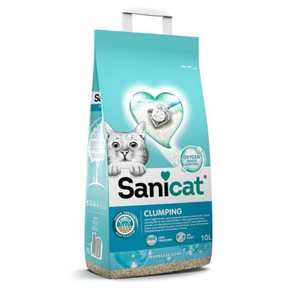 Sanicat Active Areia Ultra Aglomerante Anti-bacteriana 10l