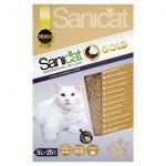 Sanicat Areia Aglomerante Clumping Gold Gatos 5L