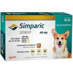Simparica Antiparasitário 40mg 10Kg - 20Kg 3 Comprimidos
