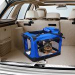 Transportadora 60 x 42 x 42 cm Cães Gatos Viagem Tubo de Aço 4 Entradas