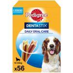 Pedigree Dentastix Snacks a Higiene Dentária Dos Médios 10-25 Kg (56 Uds.)