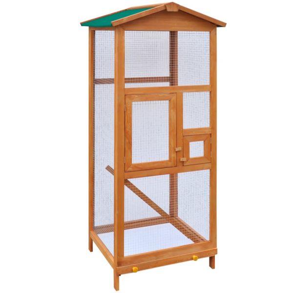 Gaiola para Pássaros em Madeira 65x63x165 cm - 170412
