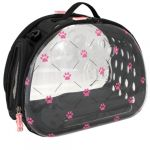 Nayeco Mala Transparente Dobrável Pink Paws 39 x 24 x 29 cm