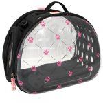 Nayeco Mala Transparente Dobrável Pink Paws 45 x 27 x 34 cm