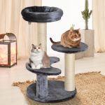 PawHut Árvore Arranhador para Gatos com Cama de Pelúcia e Postes de Corda de Sisal ?40x65cm