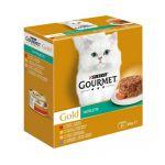 Ração Húmida Gourmet Gold Tartelette 8 X 85 G Carnes e Legumes