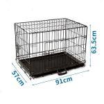 Nobleza Dog Crate Jaula Transportadora Metálica L - 91 x 57 x 63,5 cm Duas Portas