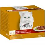 Ração Húmida Gourmet Gold 96 x 85 g Jumbopack Mousse: Vaca, Coelho, Cordeiro, Vitela