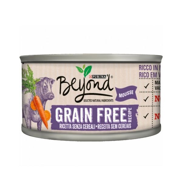 Ração Húmida Beyond Purina Grain Free Mousse Vaca 3x 85 g
