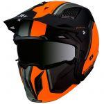 Mt-helmets Capacete Streetfighter Sv Twin Matt Fluor Orange XS