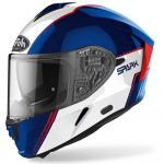 Airoh Capacete Spark Flow Blue / Red Gloss XS