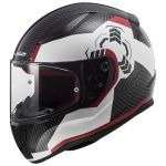 LS2 Capacete Ff353 Rapid Ghost / White / Black / Red - XL