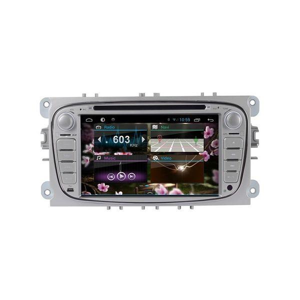 Radio Android Gps Ford C-max Galaxy Prata V6 Octacore