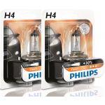 Philips 2x Lâmpadas Vision +30% H4 12V 60/55W - 12342PRB1