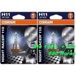 Osram 2x Lâmpadas H11 Night Racer 110 - 64211NR1-02B