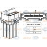 HELLA Módulo de comando, aquecimento/ventilação - 4045621399108