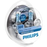 Philips 4x Lâmpadas WhiteVision Ultra H4 + W5W - 12342WVUSM