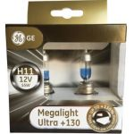 GE 2x Lâmpadas Megalight Ultra + 130 H11 12v 55w PGJ19-2