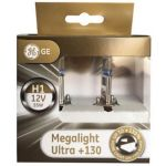 GE 2x Lâmpadas Megalight Ultra + 130 H1 12v 55w P14.5s