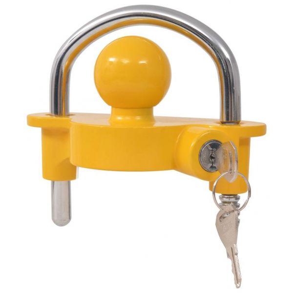 Cadeado Atrelado com 2 Chaves, Aço e Liga de Alumínio Amarelo - 142675