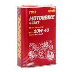 MANNOL Óleo Moto 7812 Motorbike 4T 10W-40 METAL 1L