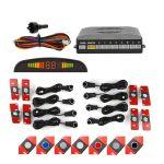 Kit 8 Sensores de Estacionamento com Display led e Buzzer (à Face) (16mm) Cinza Rato