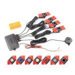 Kit 4 Sensores de Estacionamento com Buzzer (à Face) (16mm) Vermelho