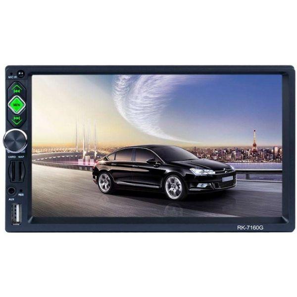 Autorádio 2 DIN RK-7160G Bluetooth/Link de espelho/USB/Micro SD/controle remoto
