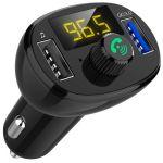 ProFTC Transmissor Auto FM 12/24V c/ MP3-USB-Bluetooth + Mãos Livres + Carreg. Rápido USB (QC3.0) - 10094
