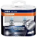 Osram 2x Lâmpadas Night Breaker Unlimited 51W 12V P22d HB4 - 9006NBU-02