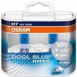 Osram 2x Lâmpadas Hyper+ Cool Blue 55W 12V H7 - 62210CBH+