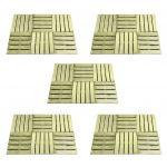 30 Peças Ladrilhos de Pavimento 50x50 cm Madeira Fsc Verde - 276433