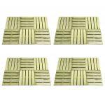 Ladrilhos de Pavimento 24 Peças 50x50 cm Madeira Verde - 276432