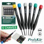 Proskit Conjunto de 6 Chaves de Precisão - 8PK-2061