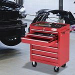 Durhand Carro de Ferramentas com Rodas Aço Vermelho 69x33x77.2cm