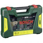 Bosch V-line Titanium Drill + Bit Set 91 Parts - 2607017195