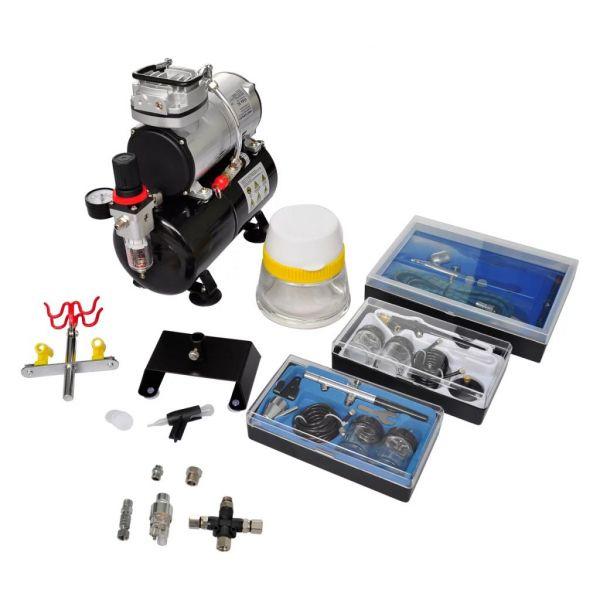 VidaXL Conjunto de Compressor de Ar com 3 Aerógrafos - 140284