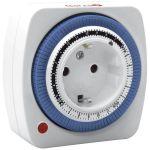Garza Power Temporizador Analógico Mini , Programación Semanal 24 Horas