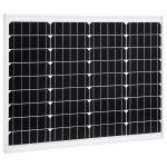 VidaXL Painel Solar 50 W Alumínio Monocristalino e Vidro de Segurança - 145282