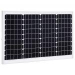 VidaXL Painel Solar 40 W Alumínio Monocristalino e Vidro de Segurança - 145281